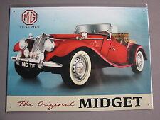 Metal Sign MG TF Series, The Original Midget