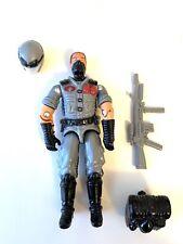 GI Joe Red Laser Black Major Officer Viper Cobra Grey Gray Hair Removable Helmet