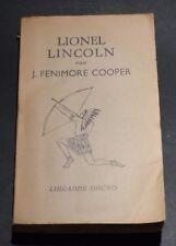 Lionel Lincoln J.Fenimore Cooper , librairie Gründ et  Garnier