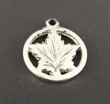 Vintage Sterling Silver Bracelet Charm Pendant Canada Maple Leaf Canadian