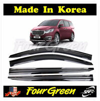 Black Window Vent Deflector Rain Guard Visor for Kia Sedona 2015-2019