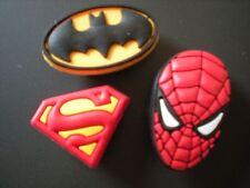 JIBBITZ CROC CLOG SHOE CHARM SPIDERMAN SUPERMAN BATMAN FIT BRACELET BELTS