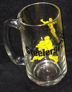 1972 PITTSBURGH STEELERS WTAE RADIO 1250 DRINKING GLASS MUG WITH HANDLE