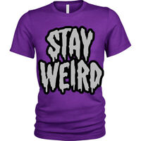 Stay Weird T-Shirt funny goth emo different Unisex Mens