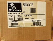 "Zebra Direct 2000 Direct Thermal Label 2.25"" x .5"" (P/N: 56002) - 4 Rolls/Case"