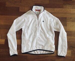 Pearl Izumi Cycling Jacket 1/2 Zip White/Red/Black Women Small