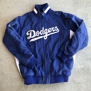 LOS ANGELES DODGERS Baseball MAJESTIC Dugout Style Youth MEDIUM Jacket MLB Blue