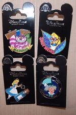 Disney Alice Wonderland Drink Me Vial Mad Hatter Cheshire Cat Spinner 4 Pin Set