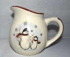 Royal Seasons SNOWMAN CREAMER Stoneware Ceramic Holiday Christmas