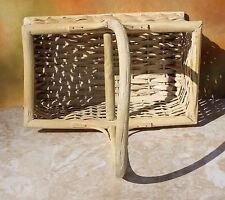 Wicker Rattan Silverware Utensil Caddy Serving Picnic Basket