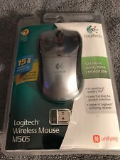 Logitech M505 Wireless Laser Mouse USB Receiver Grey & Black NEW SEALED