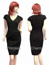 Work Solid Dresses for Women with Peplum