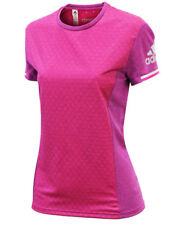 New Adidas ClimaChill Running Top T-Shirt - Pink - Ladies Womens Gym Fitness