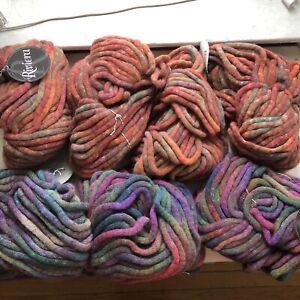 knitting Wool Yarn Lot Super Bulky Italy Rainbow Knitting Fever Riviera