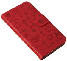 Kolorfish Leather Case /Cover For SAMSUNG Galaxy Grand Duos ( i9082)--iLove--Red