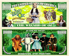 Le MAGICIEN d'OZ - BILLET 1 MILLION DOLLAR US! Collection JUDY GARLAND Wizard Of