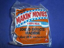 Vintage Makin' Movies Sound Effects Machine Toy by McDonalds 1993 MIP
