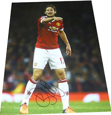 Daley Blind Manchester Utd SIGNED AUTOGRAPH 16x12 Photo AFTAL UACC RD