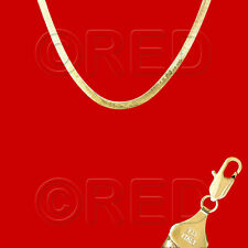 "Wholesale Lots Mirror Flex 18"" 14K Gold Vermeil 4.5mm Herringbone Necklace Wve"