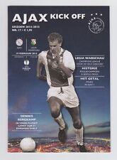 Orig.PRG    Europa League  2014/15  AJAX AMSTERDAM - LEGIA WARSCHAU  !!  SELTEN