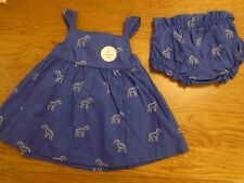 BNWT baby girl dress & pants outfit.zebra. Mothercare. Newborn. 7.5lb.     (2/1)