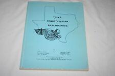 Texas Pennsylvanian Brachiopods book John H. Herbert fossils