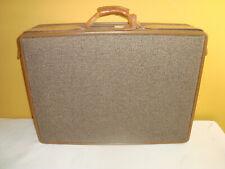 Vintage Hartmann Tweed Suitcase Luggage W/Leather Belting 24x18x7 NEW NEVER USED