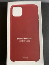 Apple Leather Case  Iphone 11 Pro Max ( Product Red)