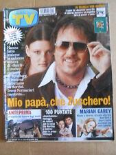 TV Sorrisi e Canzoni n°49 2002 Mariah Carey Zucchero Edoardo Bennato  [D54]