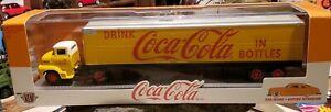 2020 M2 Machines 1956 Ford COE Coca Cola yellow truck trailer Voitire Interieure