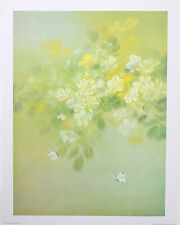 "BUTTERFLIES AND FLOWERS Wall Art 18"" x 24"" Vintage ""Golden Glow"" by David Lee"