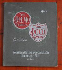 ROCHESTER OPTICAL AND CAMERA PREMO/POCO CATALOG, 1901/cks/201050