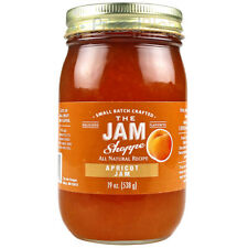 The Jam Shoppe All Natural Apricot Jam 19 Oz. Jar Handcrafted Real Fruit Recipe