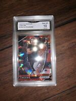 LaMelo Ball Prizm Draft Picks Rc CRACKED RED ICE #3 Mint Refractor GMA 10