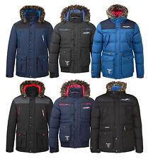 Kangol or Rawcraft Mens Padded Winter Jackets Outdoor Warm Hooded Parka Coats