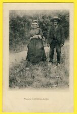cpa 03 - NÉRIS les BAINS (Allier) PAYSANS FERMIER AUVERGNAT vers 1900