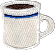 22142 Cup of Coffee Mug Retro Diner 1950s 50s Drink Embroidered Iron On Patch