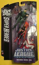 JUSTICE LEAGUE VOLCANA Hawk GREEN ARROW action figure 3 pack DC UNIVERSE Rare