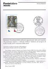 ITALIA 2000 CARLO CRIVELLI  BOLLETTINO COMPLETO DI FRANCOBOLLI FDC
