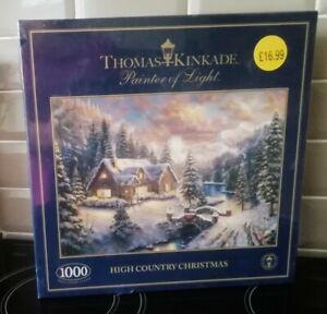 Thomas Kinkade 1000 Piece Jigsaw Puzzle High Country Christmas