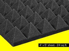 "Soundproof Studio Foam Acoustic Soundproofing Pyramid Panels 2""x48""x72"" 24 SqFt"