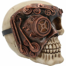 Monocle Man Skull Head Steampunk Gothic Figure Ornament Art Figurine Decor Gifts