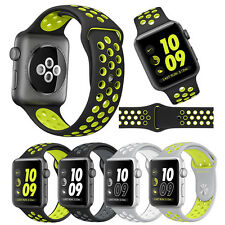 Replacement Silicone Sports Bracelet Strap For Apple Watch Band Nike Series 2/1$