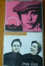 2  ELTON JOHN SINGLES - ARE YOU READY FOR LOVE & TRUE LOVE with Kiki Dee