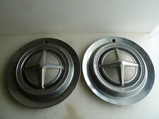 "vintage Dodge Lancer hubcaps 13 1/2"", pair, cross star emblem, Dart"