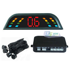 Black 4 Parking Sensor LED Display Car Reverse Backup Radar System Sound Alert
