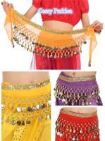 Kids Girls Belly Dance Coin Belt Hip Scarf Skirt Wrap Bollywood Dancing Costume