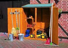 Geräteschrank groß - Gartenhaus - Gerätehaus B149XT77XH164cm Holz honig-braun
