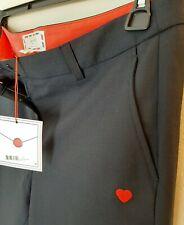 New DEAR DREW - by Drew Barrymore Dressy Ankle Trousers Slacks NAVY 10