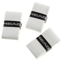 Head White Overgrip Tennis grips - Pack of 3 - Free UK P&P